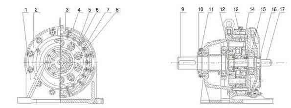 摆线针轮减速机传动原理图