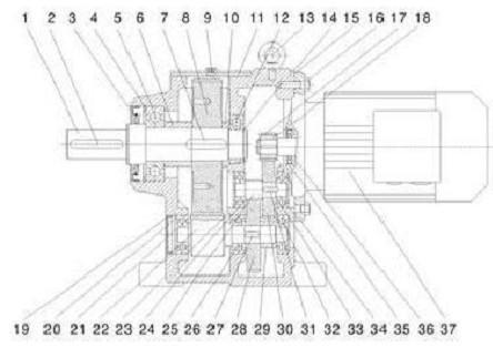 r97减速机外型安装尺寸图_百度文库
